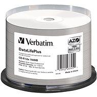 VERBATIM CD-R DLP 80min. 52x WIDE Profesional Printable 50-cake