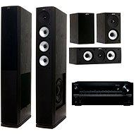 ONKYO TX-NR646 černý + Jamo S 628 HCS Black Ash
