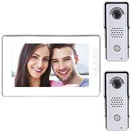 Souprava videotelefonu s pamětí EMOS H1019 s přídavnou antivandal kamerovou jednotkou H1128