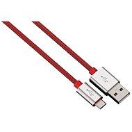 Hama Color Line USB A - USB micro B, 1m, červený