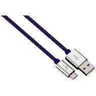 Hama Color Line USB A - USB micro B, 1m, modrý