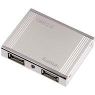 Hama 4 port USB 2.0 HUB Alu mini stříbrný