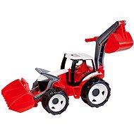 Lena Traktor se lžící a bagrem červeno-bílý