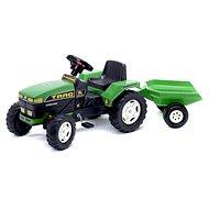 Šlapací traktor Farm s valníkem zelený
