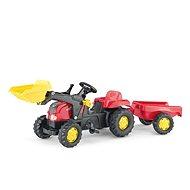 Šlapací traktor Farm s valníkem a lžící