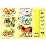 Woody Hudební puzzle - Domácí zvířata