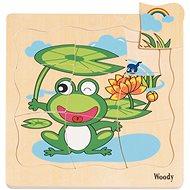 Woody Puzzle na desce - Vývoj žáby