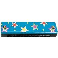 Woody Foukací harmonika modrá