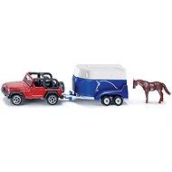 Siku Blister – Jeep s přívěsem a koněm