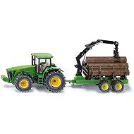 Siku Farmer - Traktor John Deere s lesním přívěsem