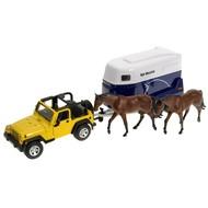 Siku Farmer - Jeep s přívěsem pro koně