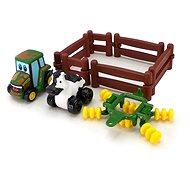 John Deere – Hrací set kravička s traktorem