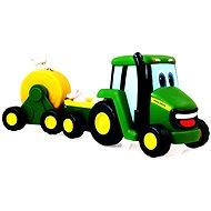 John Deere – Traktor se zemědělským vozíkem