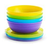 Munchkin – Set barevných misek s víčky a lžičkami