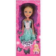 Sparkle Girlz Princezna 50 cm v šatech, modrá/bílá s růží