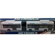 Kloubový autobus bílý