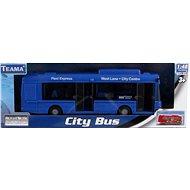 Městský autobus modrý