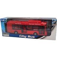 Městský autobus červený