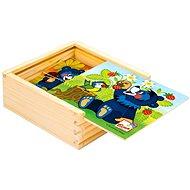 Bino dřevěné kostky - Moje první puzzle Baribal