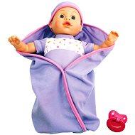 Mluvící panenka v peřince - fialová