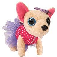 Simba ChiChi Love -  Čivava baletka růžová s puntíky a fialovými šaty