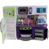 Kuchyňka mini fialovo-zelená