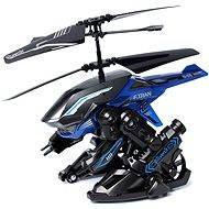 Vrtulník Heli Beast - Heli Transbot - Helikoptéra s bombou modro-černý