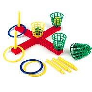 Kříž s košíky a míčky a kroužky