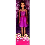 Mattel Barbie Brunetka ve fialových šatech