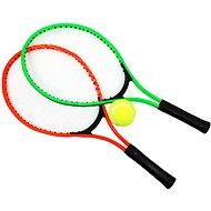 """Tenisové rakety 23"""" & tenisový míč, zelená + červená"""