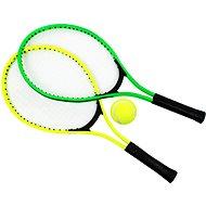"""Tenisové rakety 23"""" & tenisový míč, zelená + žlutá"""