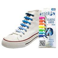 Shoeps - Silikonové tkaničky mix blue