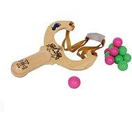 Dřevěné hračky - Prak s kuličkami