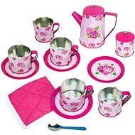 Bino Dětský čajový set růžový