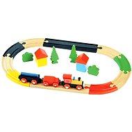 Dřevěný vlak s kolejemi
