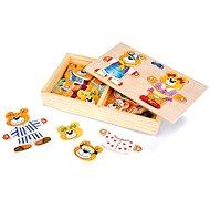 Dřevěné hračky - Oblékání medvědků