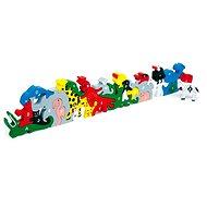 Dřevěné hračky - Zvířata s písmeny a číslicemi