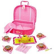 RaKonrad Dětský růžový piknikový koš - Květina