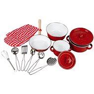 Dětské kovové nádobí - červené