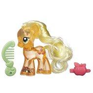 My Little Pony - Průhledný poník Apple Jack s třpytkami a doplňkem