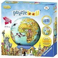 Ravensburger 3D Puzzleball - Dětská mapa světa