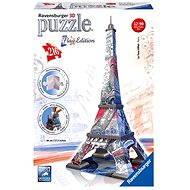 Ravensburger 3D Puzzle - Eiffelova věž, vlajková edice