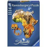 Ravensburger Tvarové Puzzle - Africký kontinent