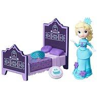 Ledové království - Malá panenka Rise a Elsa s postelí