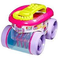 Mattel Fisher Price Mega Bloks - Zábavný sběrač kostek růžový