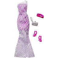 Mattel Barbie - Outfit s doplňky: Fialové šaty