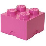 LEGO Úložný box 4 250 x 250 x 180 mm - růžový