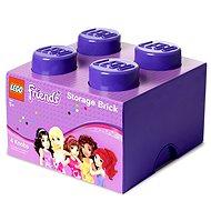 LEGO Friends Úložný box 4 250 x 250 x 180 mm - fialový