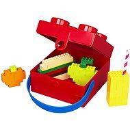 LEGO box s rukojetí 166 x 165 x 117 mm - červený