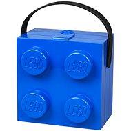 LEGO box s rukojetí 166 x 165 x 117 mm - modrý